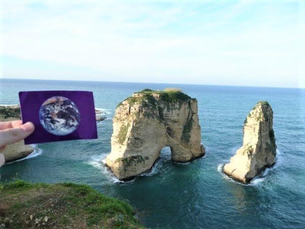 Raouche Rock was #EarthFlagged !
