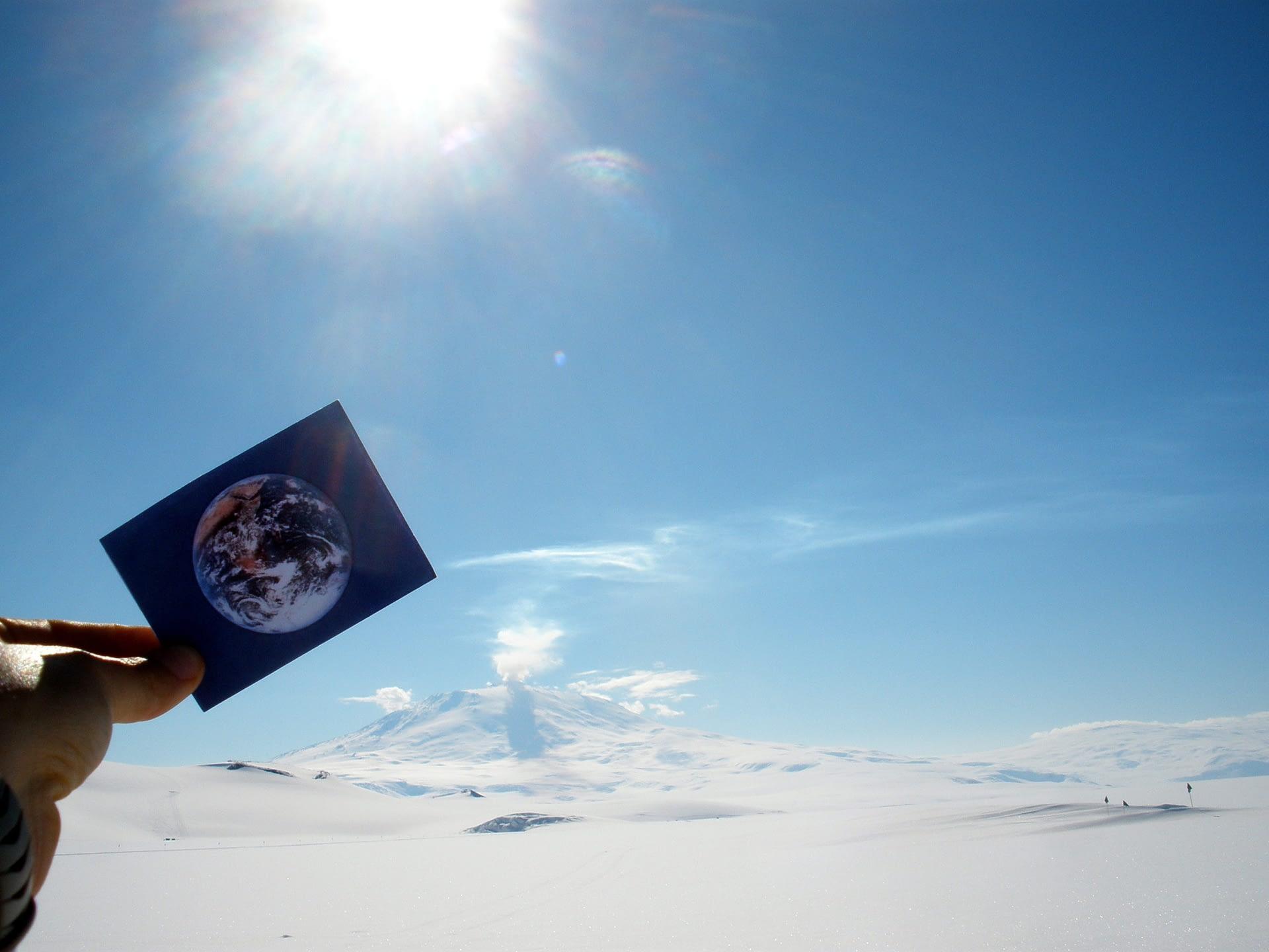 Mount Erebus was #EarthFlagged!