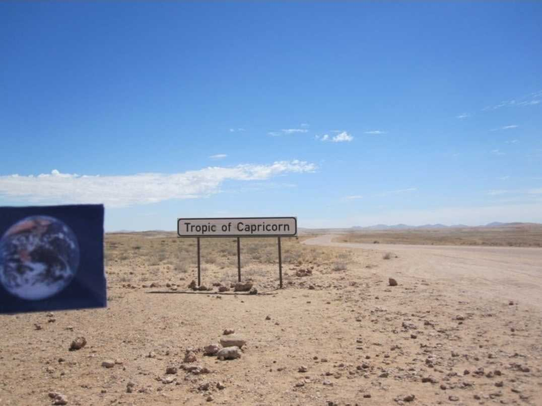 The Tropic of Capricorn was #EarthFlagged!