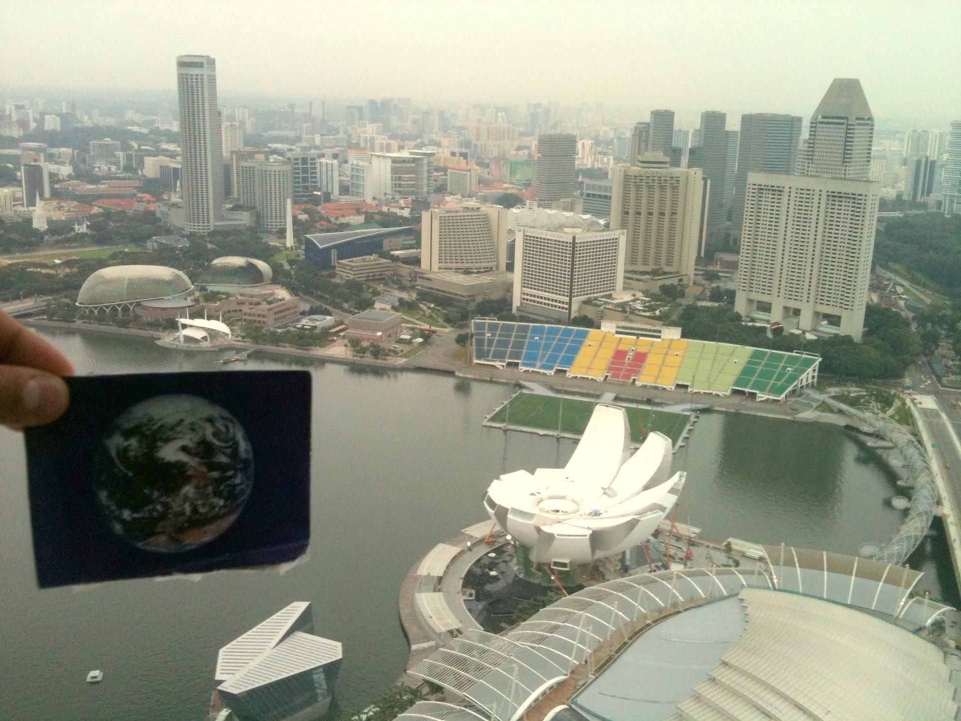 The Marina Bay was #Earthflagged!