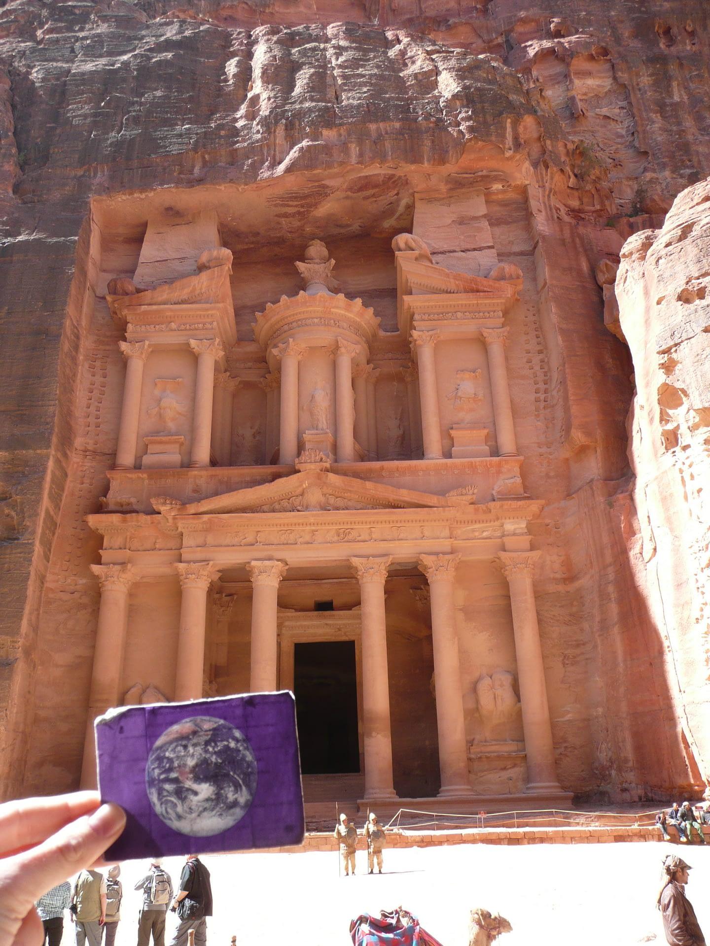 The Treasury (Al Khazeh) at Petra, Jordan was EarthFlagged!