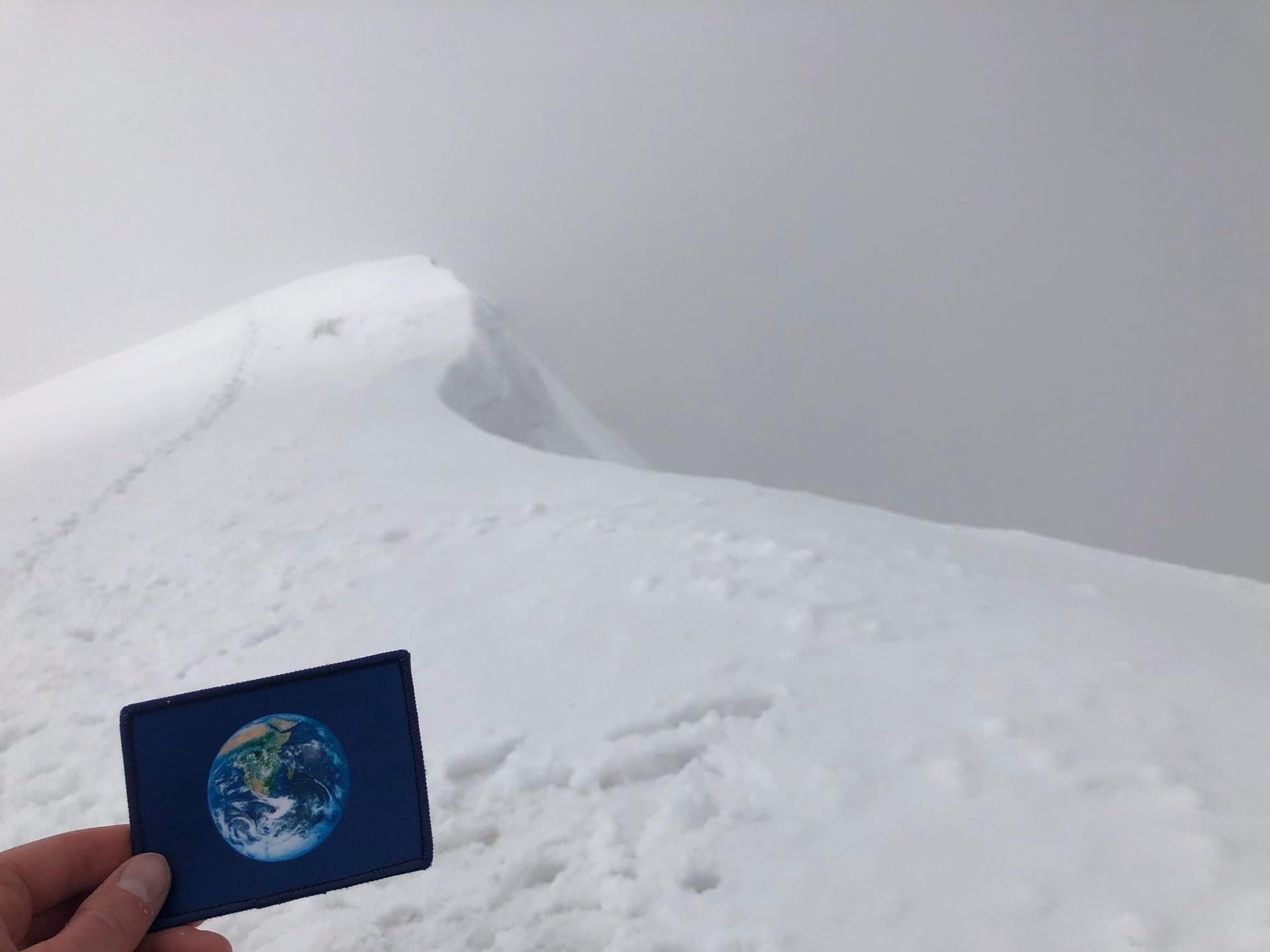 The caldera rim of Mount Saint Helens was #EarthFlagged !